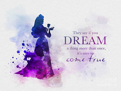 Disney Mixed Media - Dreams Can Come True by Rebecca Jenkins