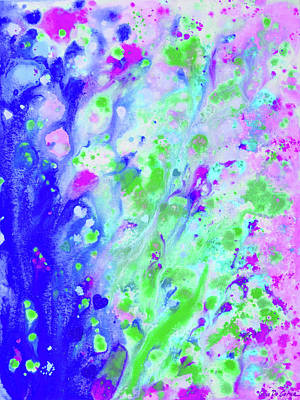 Painting - Dreams In Pink, Blue And Green by Gina De Gorna