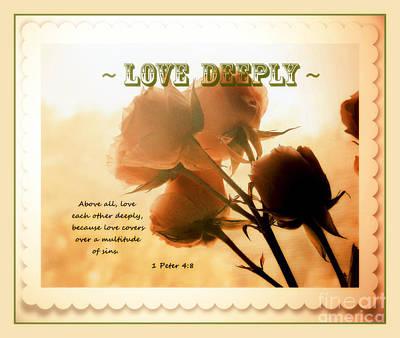 Dreams In Roses - Vintage - Verse Print by Anita Faye