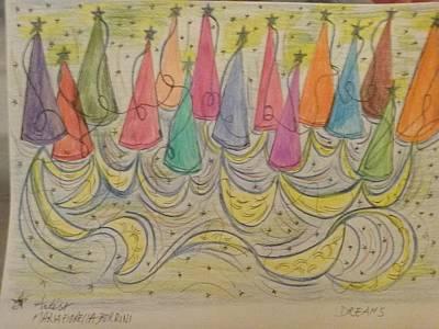 Foulard Painting - Dreams by Maria Fiorella Borrini