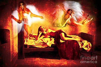 Digital Art - Dreams Of Angels by John Rizzuto