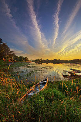 Canoes Photograph - Dreams Of Dusk by Phil Koch