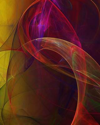Fractal Flame Digital Art - Dreams Of Fish And Other Things by David Lane