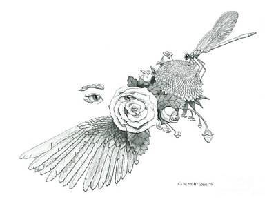 Olivia Painting - Dreams Of Flight And Flowers by Olivia Sementsova