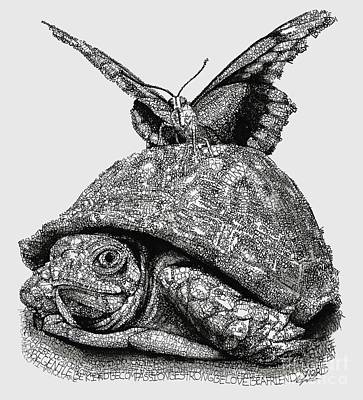 Reptiles Drawings - Dreams of Flying by Michael Volpicelli