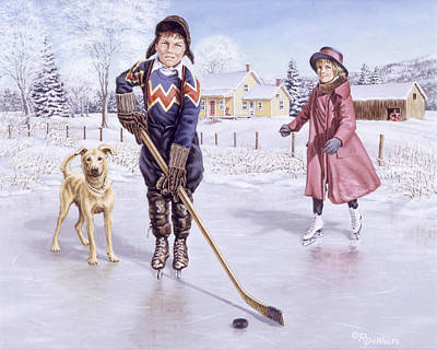 Skating Painting - Dreams Of Glory by Richard De Wolfe