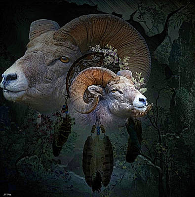 Dream Catcher Gallery Mixed Media - Dreams Of The Ram by G Berry