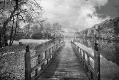 Photograph - Dreams On A Misty Morn Black And White by Debra and Dave Vanderlaan