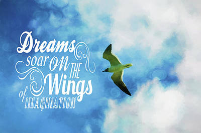 Art Print featuring the photograph Dreams On Wings by Jan Amiss Photography