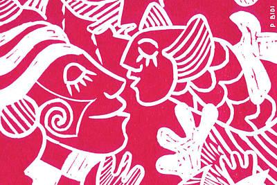 Etnic Art Painting - Dreams by Patricia Bidi