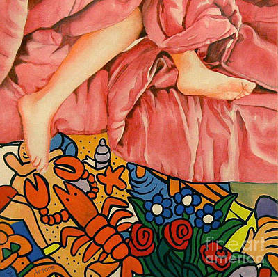 My Bed Painting - Dreams Under The Bed by Lara Artone