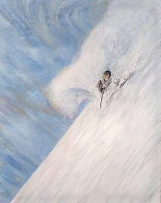 Ski Painting - Dreamsareal by Michael Cuozzo