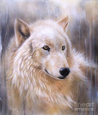 Painting - Dreamscape - Wolf II by Sandi Baker