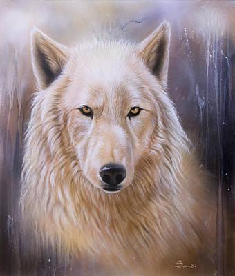 Dreamscape Wolf IIi Art Print by Sandi Baker
