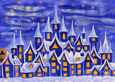 Painting - Dreamstown Dar Blue by Irina Afonskaya