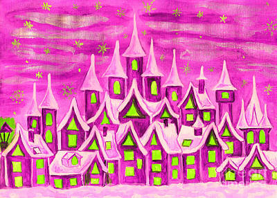 Painting - Dreamstown Pink by Irina Afonskaya