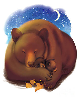 Christmas Time Painting - Dreamtime Bears by Tracy Herrmann