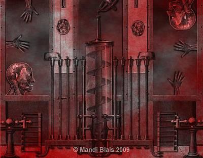 Dreamtime Of The Mechanism Art Print by Mandi Blais
