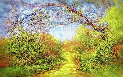 Digital Art - Dreamtime Pathway by Joel Bruce Wallach