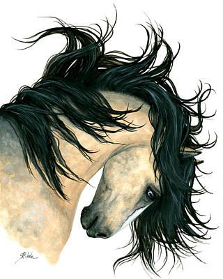 Dun Painting - Dreamwalker Buckskin Horse by AmyLyn Bihrle