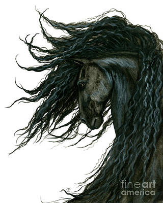Friesian Painting - Dreamwalker Friesian Horse by AmyLyn Bihrle