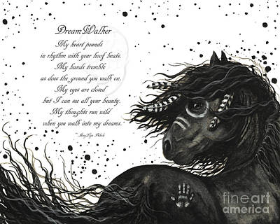 Friesian Painting - Dreamwalker Horse Poem #53 by AmyLyn Bihrle