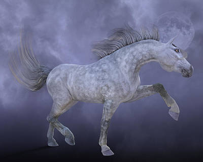 Gray Horse Digital Art - Dreamweaver by Betsy Knapp