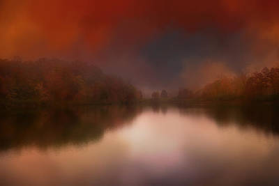 Photograph - Dreamy Autumn Lake by Jai Johnson