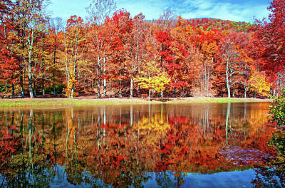 Photograph - Dreamy Autumn Reflections by Lynn Bauer