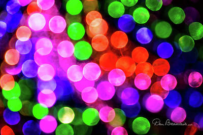 Photograph - Dreamy Christmas Lights 9716 by Dan Beauvais