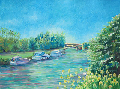 Art Print featuring the painting Dreamy Days by Elizabeth Lock