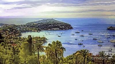 Villefranche Painting - Dreamy Escape by GabeZ Art