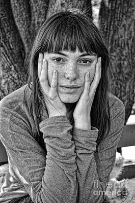 Photograph - Dreamy Eyed Freckle Faced Beauty  by Jim Fitzpatrick