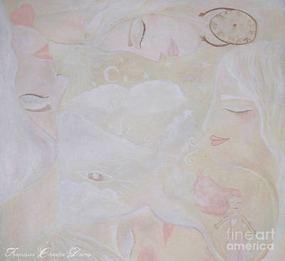 Wiccan Painting - Dreamy Goddess by Sacred  Muse