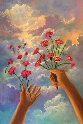 Painting - Dreamy  Hands To Heaven Series by Randy Burns