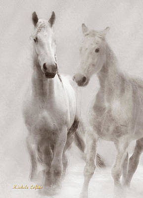 Photograph - Dreamy Horses by Michele A Loftus
