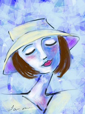 Digital Art - Dreamy Jeanne by Elaine Lanoue