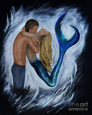 Painting - Dreamy Mermaid by Leslie Allen