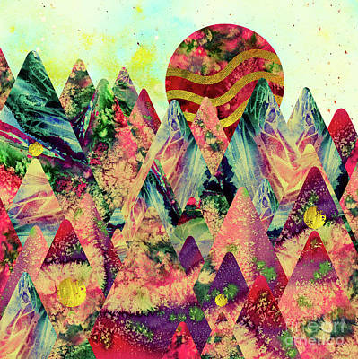 Digital Art - Dreamy Mountains by Zaira Dzhaubaeva