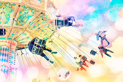 Dreamy Pastel Carnival Art Print by Delphimages Photo Creations