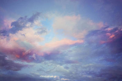 Photograph - Dreamy Pink And Blue Cloudscape by Joni Eskridge