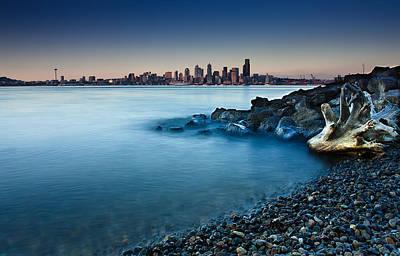 Dreamy Seattle Skyline Art Print by Sanyam Sharma