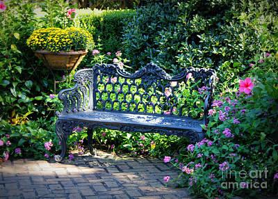 Photograph - Dreamy Southern Garden Bench by Carol Groenen