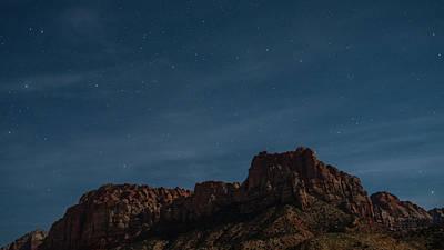 Photograph - Dreamy Stars Springdale Outside Zion National Park Utah by Lawrence S Richardson Jr