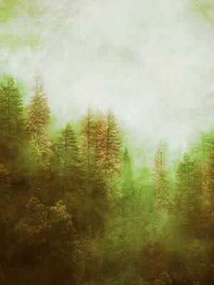 Art Print featuring the digital art Dreamy Summer Forest by Klara Acel