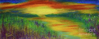 Painting - Dreamy Sunset by Barrie Stark