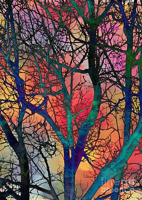 Art Print featuring the digital art Dreamy Sunset by Klara Acel