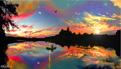 Digital Art - Dreamy Sunset by Michael Rucker