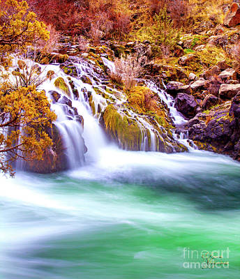 Photograph - Dreamy Waterfall by David Millenheft
