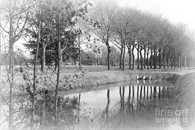 Photograph - Dreamy Winter Landscape - Black And White by Carol Groenen